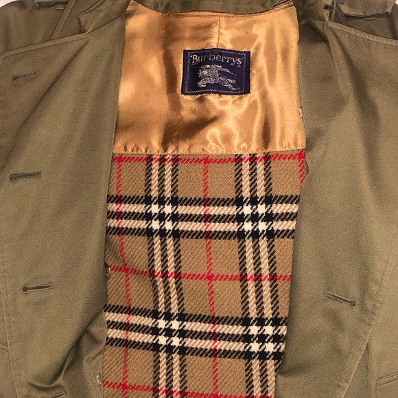 Vintage Burberry wool lined trench coat